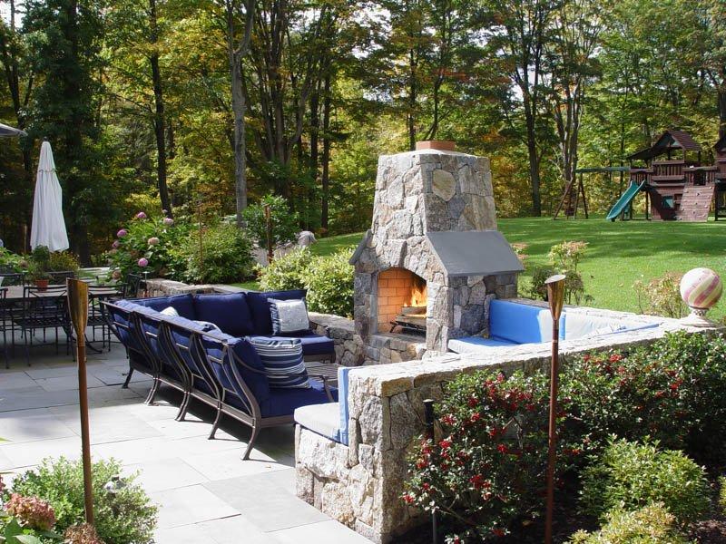 Outdoor Fireplace Design Darien, Westport, New Canaan, CT