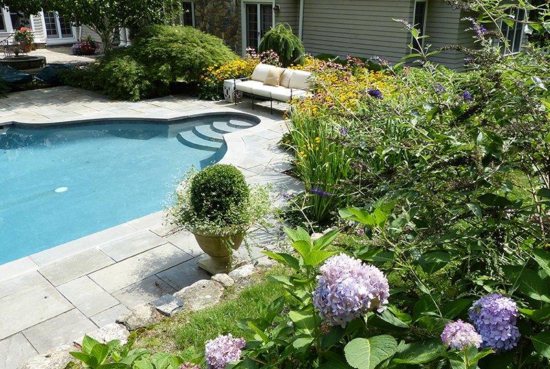 Stamped Concrete Pool Design Westport, New Canaan, Darien, CT