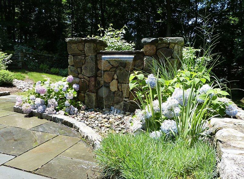 Patio Waterfall Design Darien, Westport, New Canaan, CT