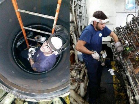 manutenzione motore navale