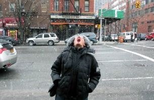 Bucket list item: catching snow on your tongue  in New York City