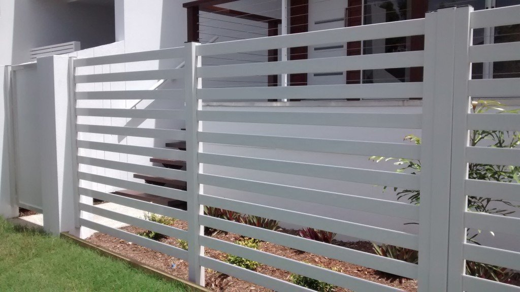 Large white custom aluminium palings