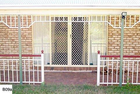 Red and white custom balustrades