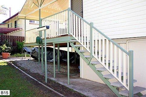 Green custom balustrades