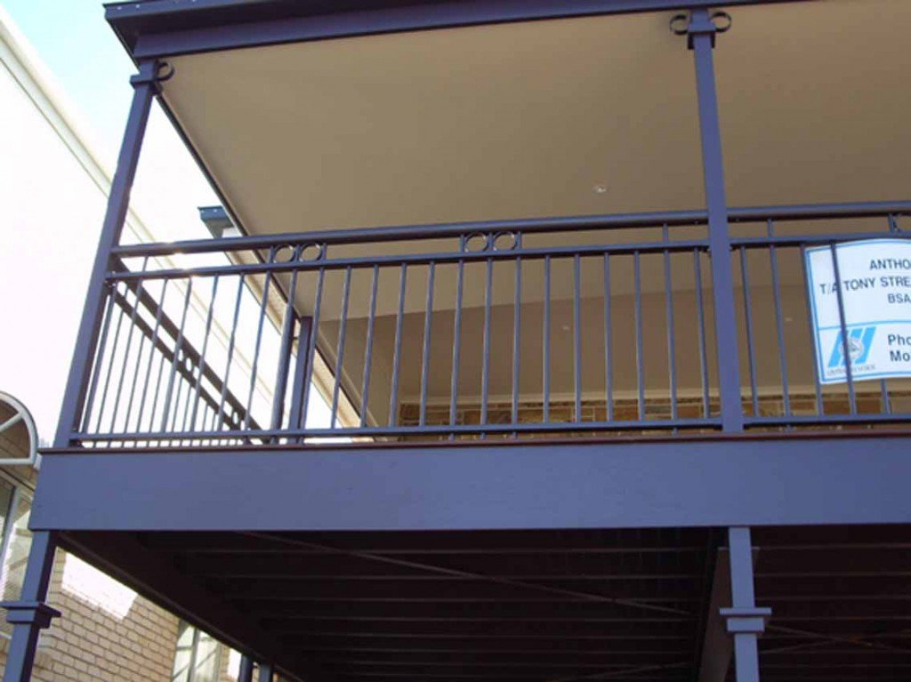 Blue custom balustrades