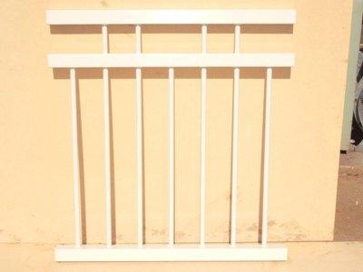White custom balustrade