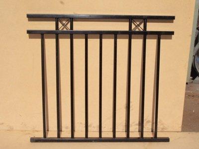 Black custom balustrade