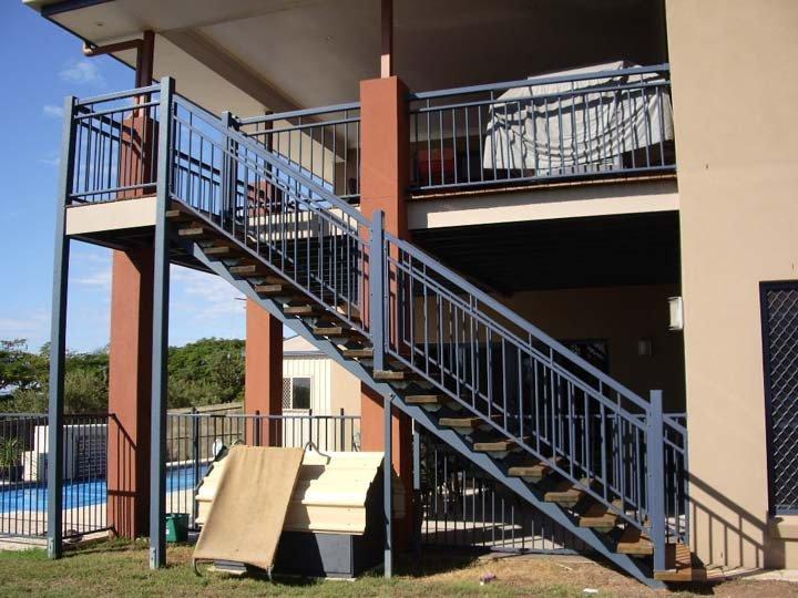 Grey custom balustrades