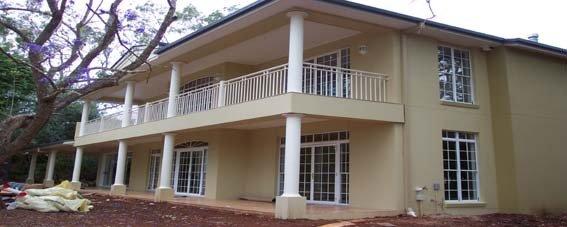 White custom balustrades