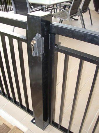 Black custom balustrades