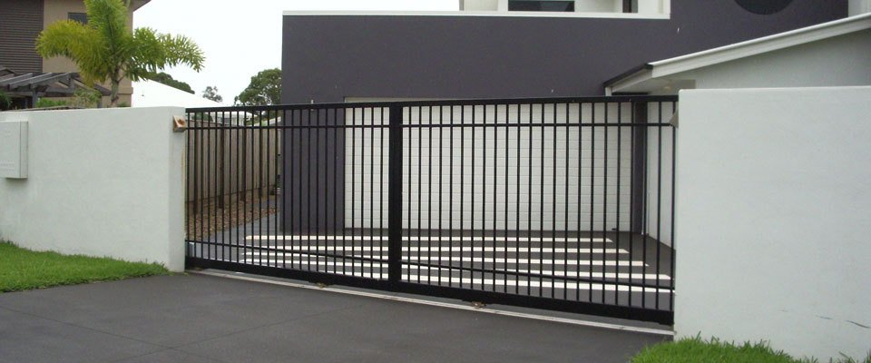 Black sliding gates