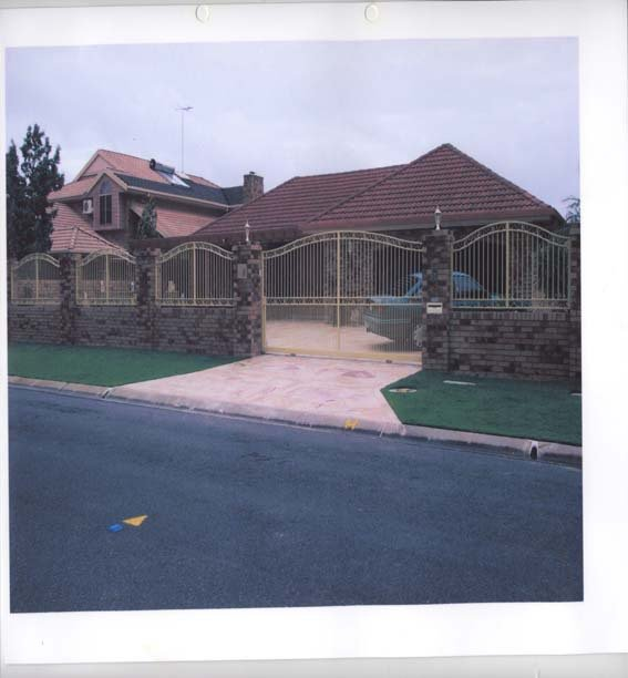 Large white custom gates
