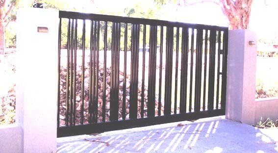 Large black custom gates