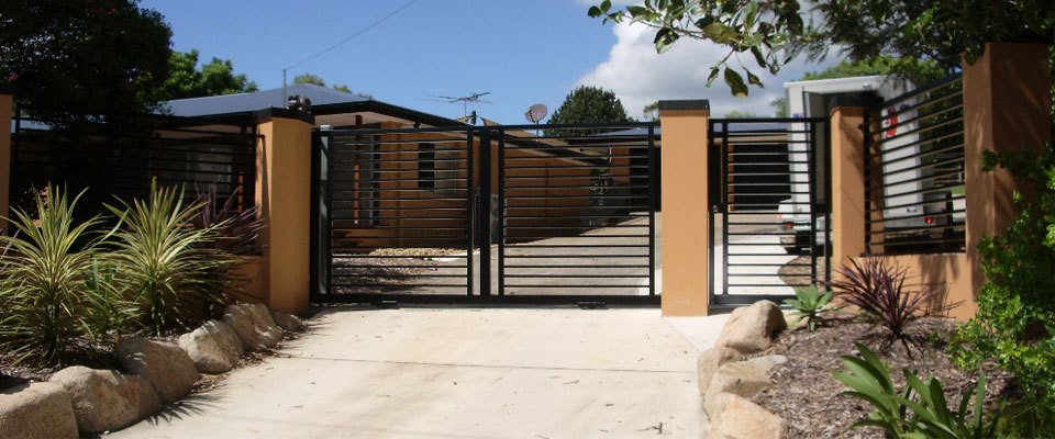 Custom black gates for the customer