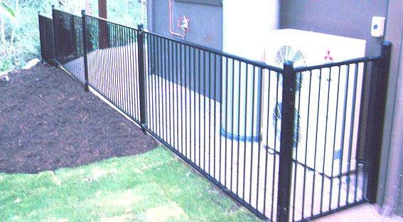 Black custom fence panel