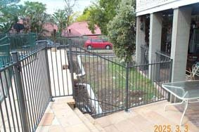 Grey fence panel