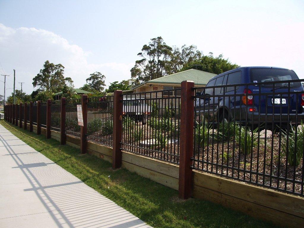 Large black custom fence panel
