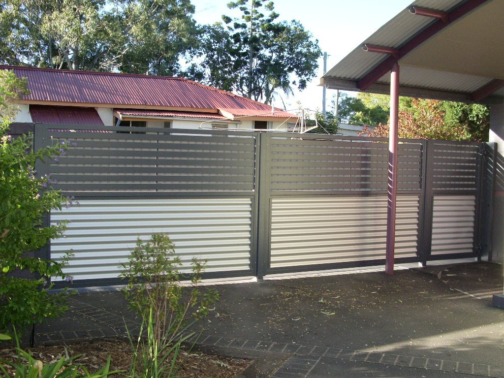 Black and white custom fence panel