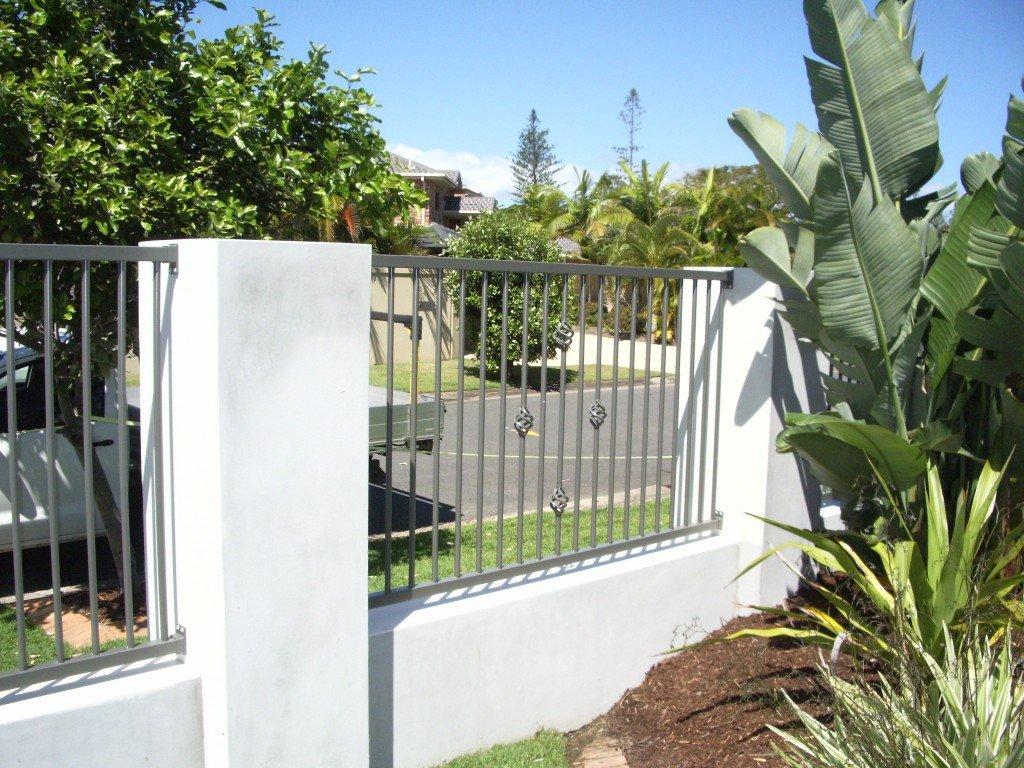 White custom fence panel