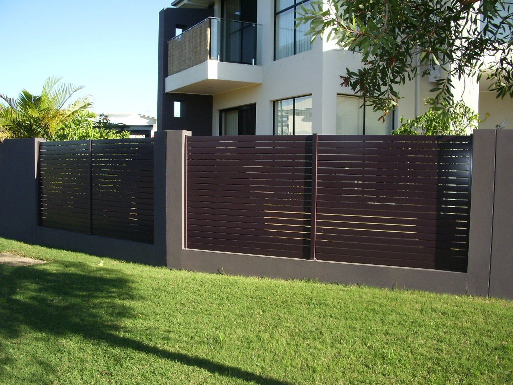 Red custom fence panel