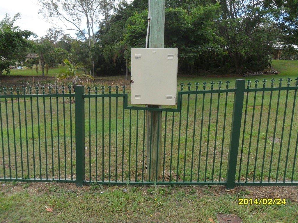 Green custom fence panel