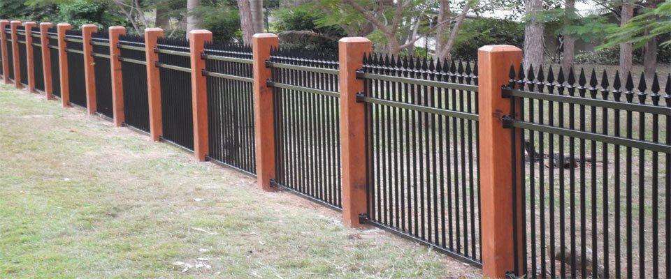 Black fence at the residence of the customer