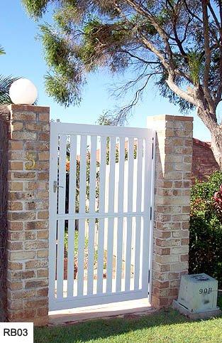 White custom raby bay gates