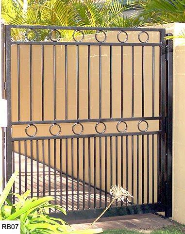 Black custom raby bay gates