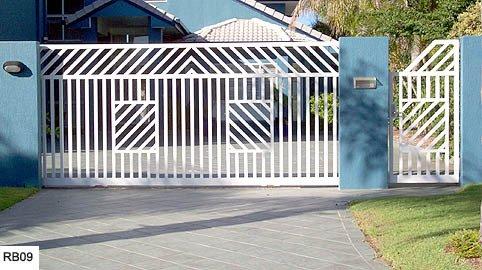 Large white custom raby bay gates