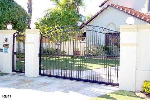 Large black custom raby bay gates