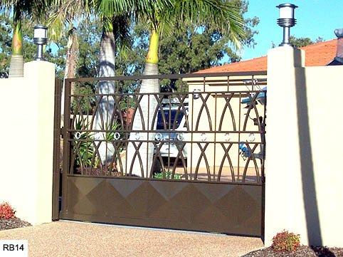 Large custom raby bay gates