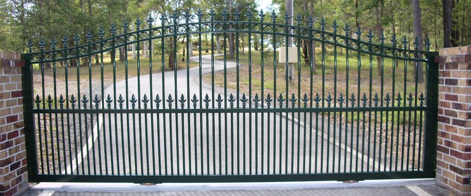 Green colour customer gates for the customer residence