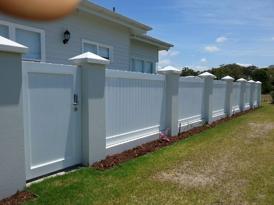 View of installed fence panels