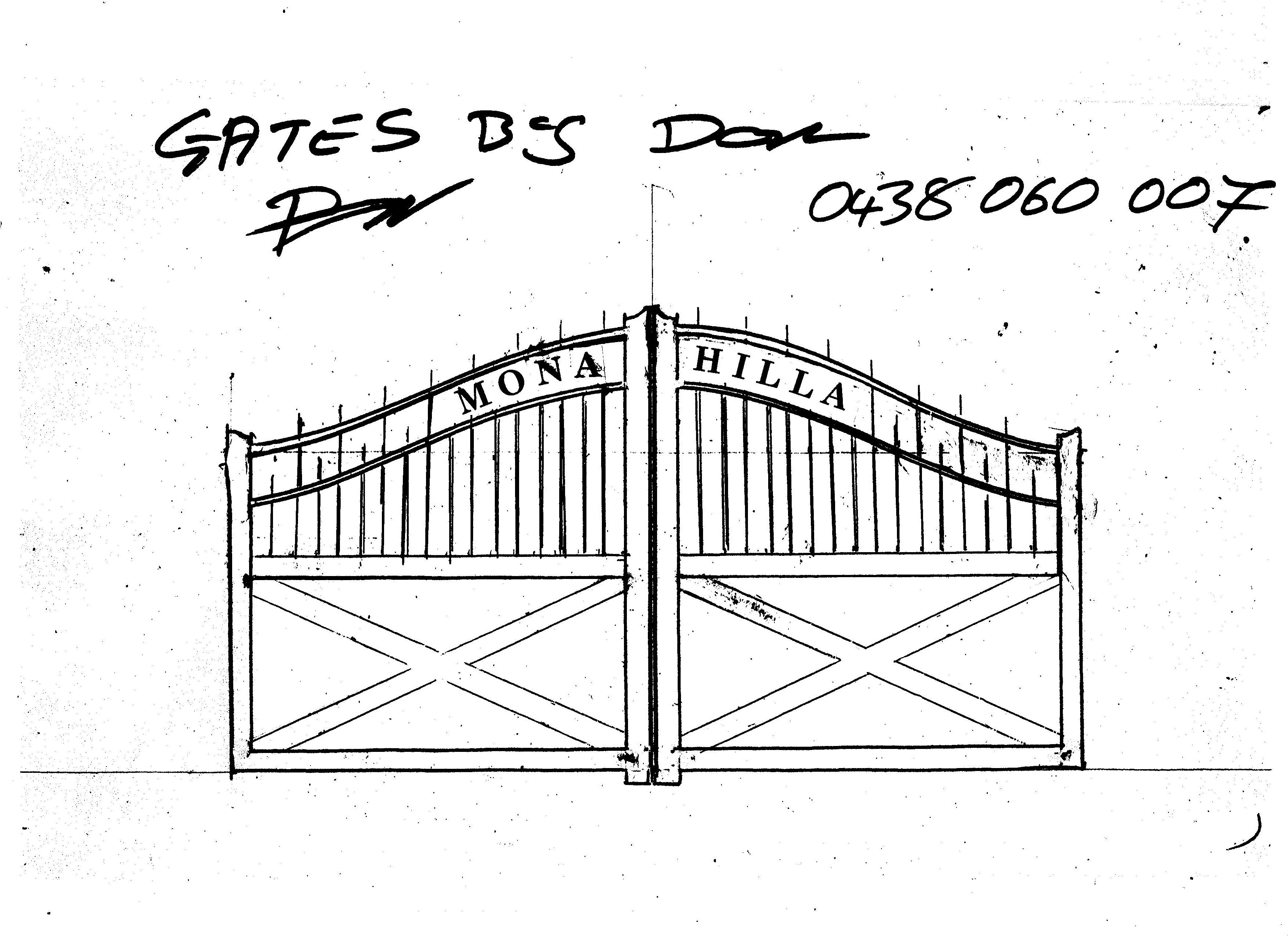 Custom fabrication work drawing