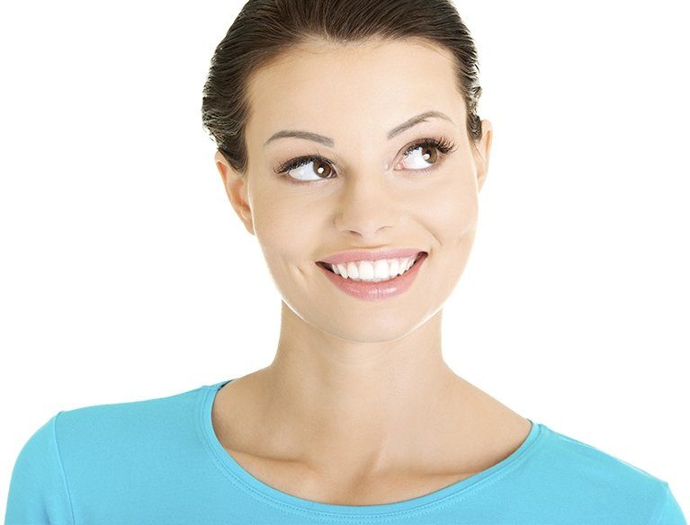 A patient with dental crowns in Sydney