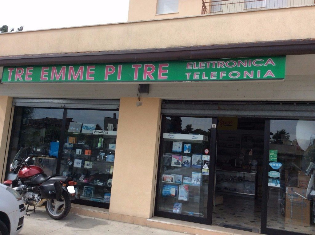vista da fuori del negozio TRE EMME PI TRE ELETTRONICA TELEFONIA