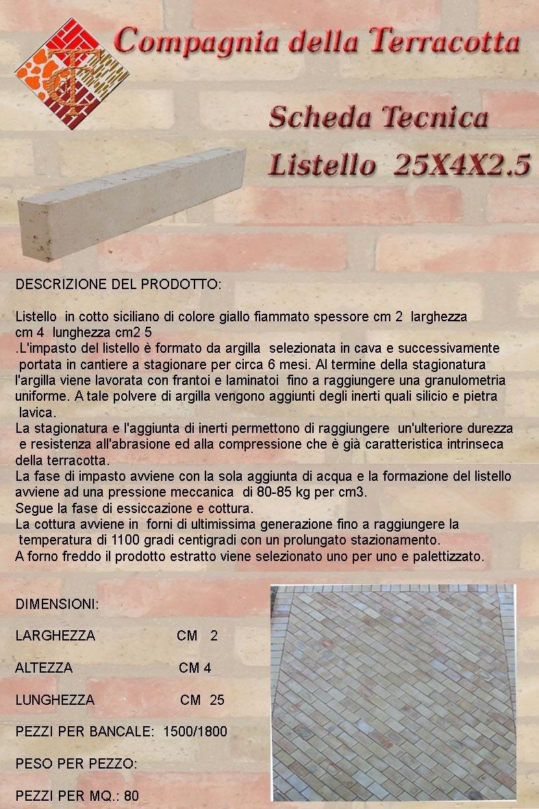 LISTELLO-25X4X2