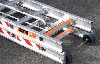 aluminium ladder with wheels