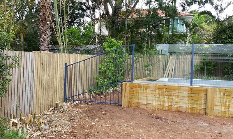 new backyard fencing