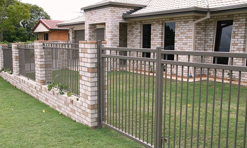 brick fence matching home