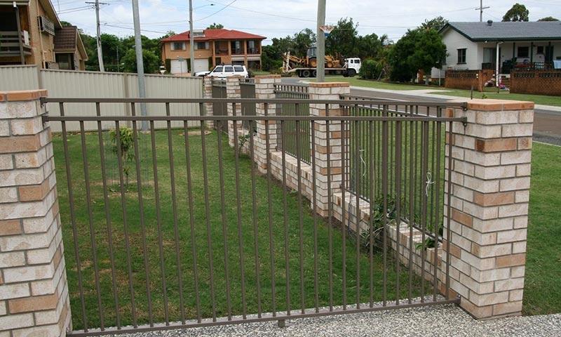 brick and metal boundary fences