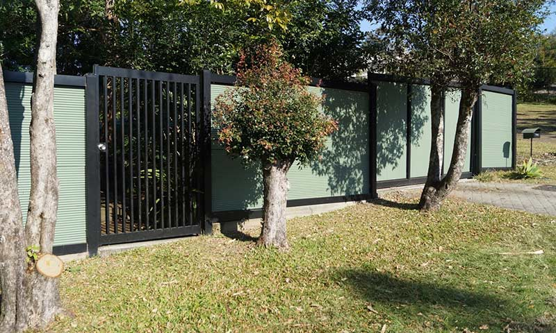 aluminium fence with gate