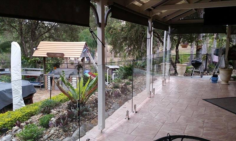 glass patio fence