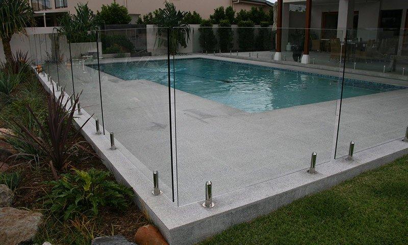 modern glass pool fences