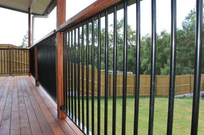 fencing around wood deck