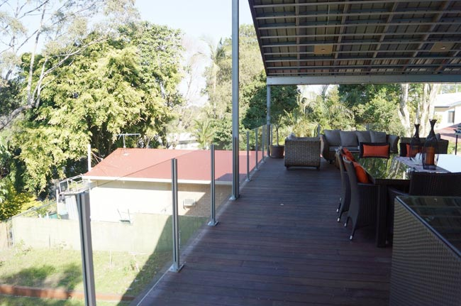 outdoor living space with balustrades