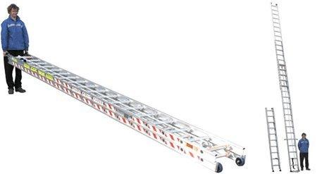 man demonstrating ladders