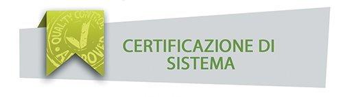 Certificazioni di Sistema