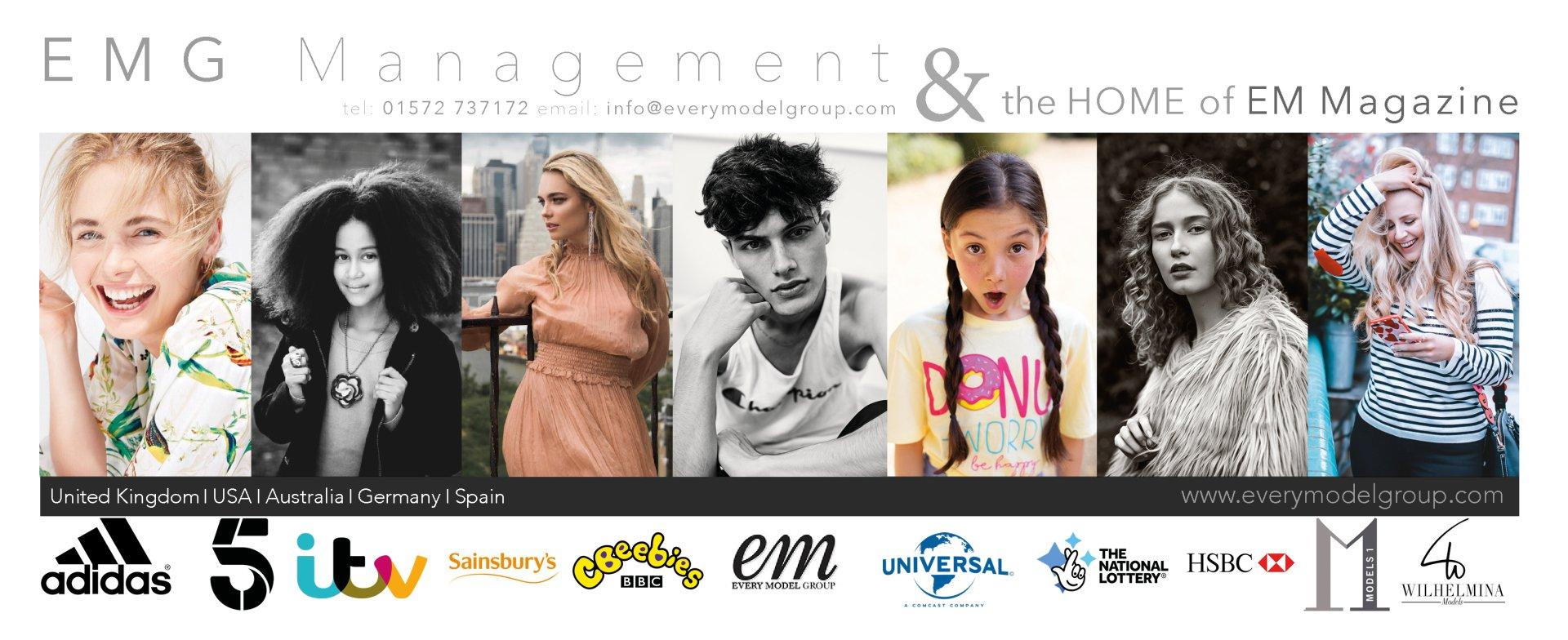EMG Management talent, actor, artist and model management