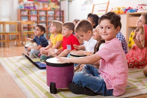 Kids having fun in the class